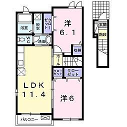 ファミーユ・H2[2階]の間取り