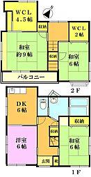 [一戸建] 千葉県市川市大野町3丁目 の賃貸【/】の間取り