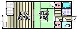三井アパート[1号室]の間取り