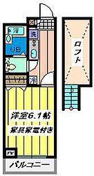 埼玉県戸田市中町1の賃貸マンションの間取り