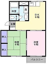 ソファレ条東[2階]の間取り