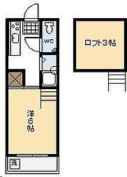 コンフォート岡[208号室]の間取り
