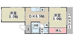 西浦マンション[401号室]の間取り