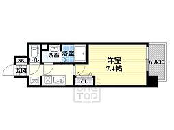サムティ都島高倉町 6階1Kの間取り