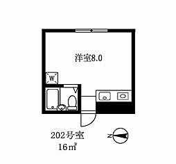 東京都世田谷区深沢3丁目の賃貸マンションの間取り
