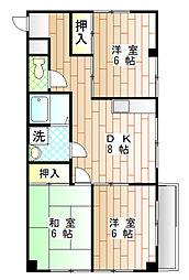 プラザ貫井[2階]の間取り