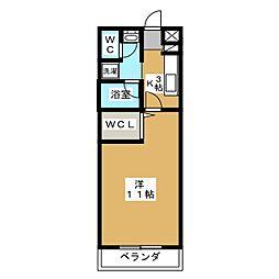 メゾン・プラクティス[3階]の間取り