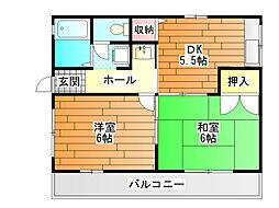 島泉 2番館[1階]の間取り