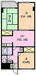 グランベール3号館[307号室]の間取り