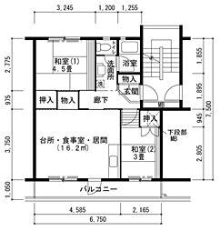 鶴山台[2LDK号室]の間取り