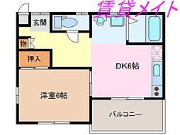 正邦苑 竹ヶ鼻[3階]の間取り