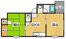 メゾンOHSAKI[201号室]の間取り