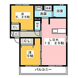 プリマヴェーラ天王台[2階]の間取り