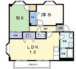 プランタン関根III[1階]の間取り