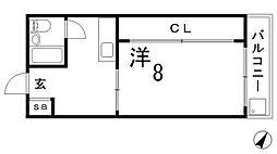 兵庫県神戸市長田区東尻池町1丁目の賃貸マンションの間取り
