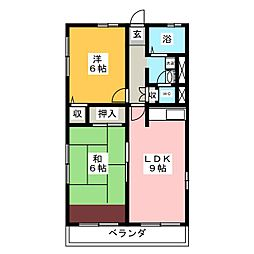 カルム庄司田[2階]の間取り