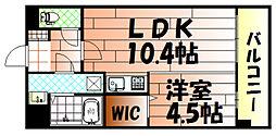 竪町センタービル[202号室]の間取り