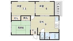 東新町BLDIII[201号室]の間取り