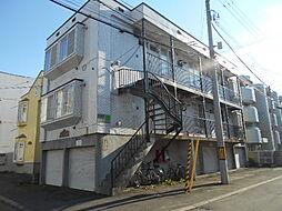 北海道札幌市豊平区平岸三条4丁目の賃貸アパートの外観