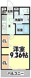 JR仙山線 東照宮駅 徒歩10分の賃貸マンション 1階1Kの間取り