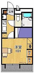 レオパレスサンフィールド[2階]の間取り