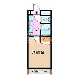アステール鴻之台[1階]の間取り