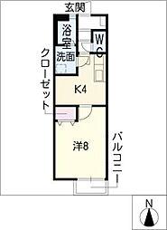 リナシメントA棟[2階]の間取り