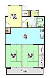 沖野上壱番館[2階]の間取り