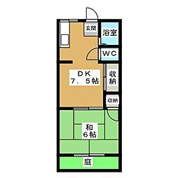 第二左京山荘[1階]の間取り