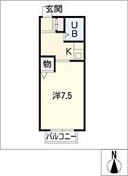 富士寮 B棟[1階]の間取り
