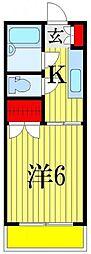 サンコーポ広瀬[105号室]の間取り