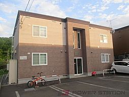 北海道千歳市桂木2丁目の賃貸アパートの外観