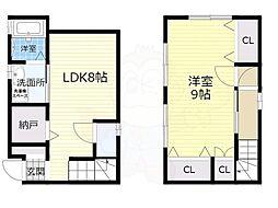 阪急京都本線 茨木市駅 徒歩20分の賃貸一戸建て 1階1LDKの間取り