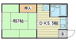 大昌荘[103号室]の間取り