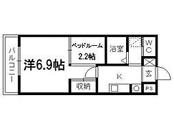 ゴールドサークル小松II[303号室]の間取り