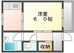 香川県高松市花園町2丁目の賃貸アパートの間取り
