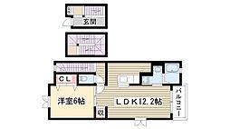 メゾン ソレイユIII[301号室]の間取り