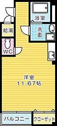 ライブリーアベニュー110[202号室]の間取り