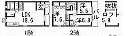 [タウンハウス] 広島県広島市安佐南区東野1丁目 の賃貸【/】の間取り