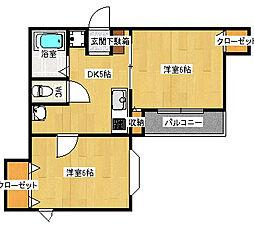 トリビュート薬院[4階]の間取り