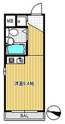 パレTOHO用賀[1階]の間取り