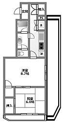 小田急コアロード東林間[4階]の間取り