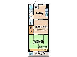 京都府京都市伏見区醍醐御園尾町の賃貸マンションの間取り