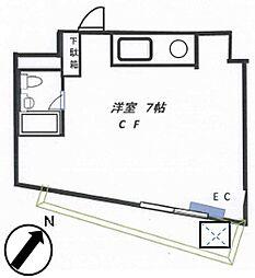 メゾンTS横浜[202号室]の間取り