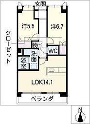 サンシャイン本郷A棟[2階]の間取り