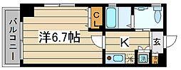 東京都江東区東砂6丁目の賃貸マンションの間取り