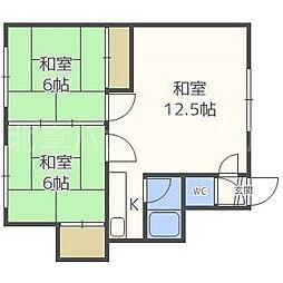 北海道札幌市北区北三十一条西6丁目の賃貸アパートの間取り