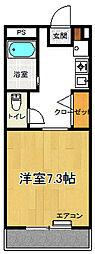 池ノ谷ハイツ[1階]の間取り