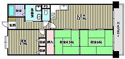 メゾンドールウイングヒルズ壱番館[2階]の間取り