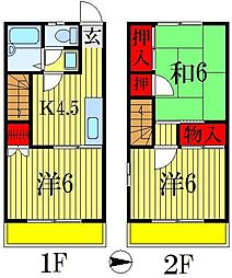 [テラスハウス] 千葉県船橋市前貝塚町 の賃貸【千葉県 / 船橋市】の間取り